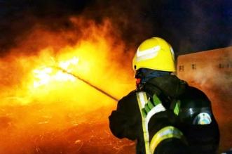حريق في أعشاب وأعلاف بقرية القمري في جازان - المواطن
