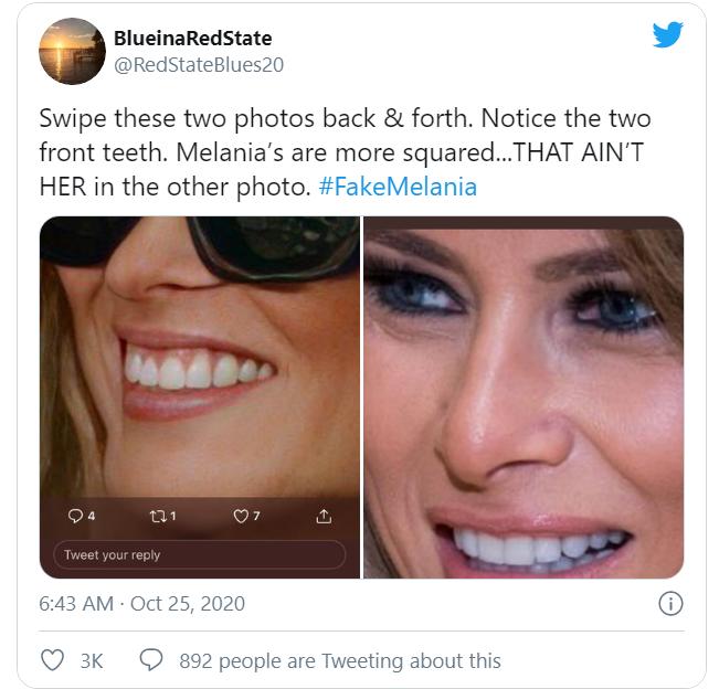 صور.. دوبلير ميلانيا ترامب تعود للأضواء مجددًا