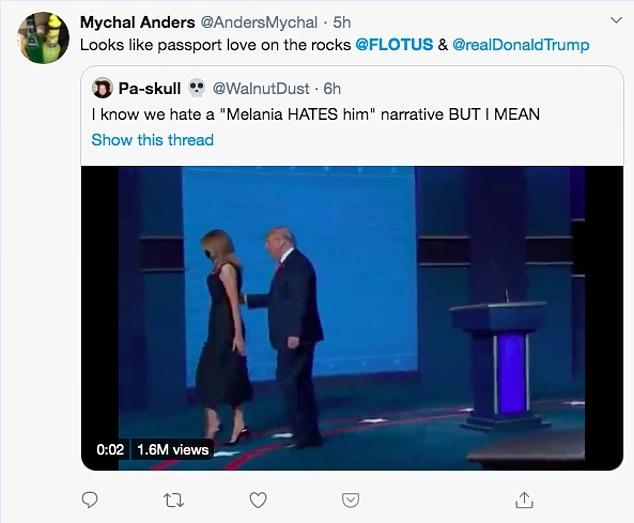 فيديو.. شاهد كيف أحرجت ميلانيا ترامب الرئيس الأمريكي في 41 ثانية