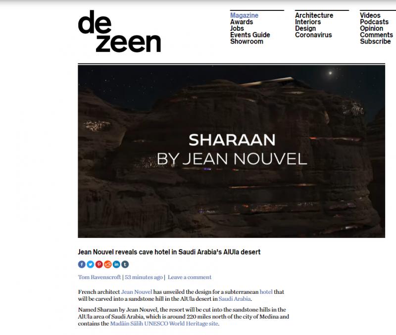 مجلة عالمية تصميم منتجع شرعان إبداع مدهش في صحراء العلا (1)