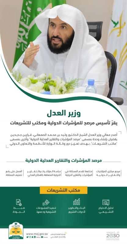 وزير العدل يُقر تأسيس مرصد للمؤشرات الدولية ومكتب للتشريعات - المواطن