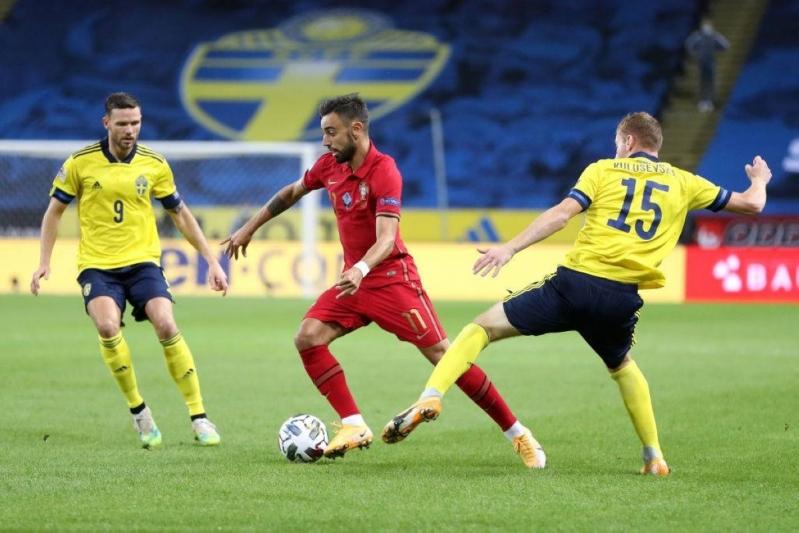 نهاية مباراة البرتغال ضد السويد بثلاثية لـ سيلساو أوروبا