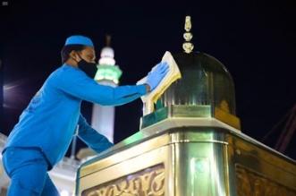 تطهير وتلميع الهيكل المعدني لمقام إبراهيم عليه السلام - المواطن