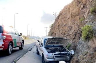 وفاة وإصابتان متوسطة وخطيرة في حادث مروري بالباحة - المواطن