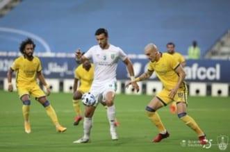 عمر السومة في مباراة الأهلي والنصر
