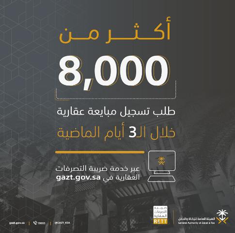 الزكاة: 8,286 طلب تسجيل مبايعة عقارية في ضريبة التصرفات العقارية - المواطن