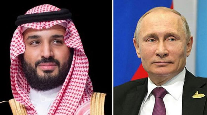 ولي العهد يتلقى اتصالاً من الرئيس الروسي تناول مواصلة التنسيق لاستقرار أسواق البترول