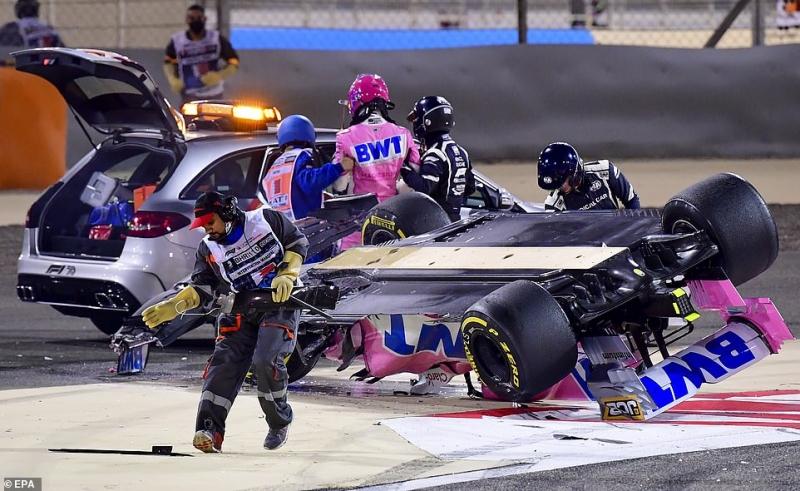 أول فيديو لـ رومان جروجان بعد نجاته من حادث الموت في سباق F1 4