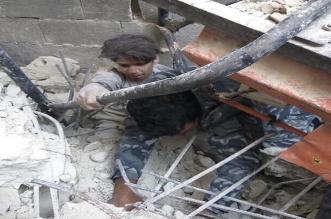 انهيار مبنى سوريا