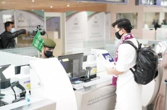 جوازات مطار الملك عبدالعزيز الدولي تنهي إجراءات دخول أولى طلائع المعتمرين