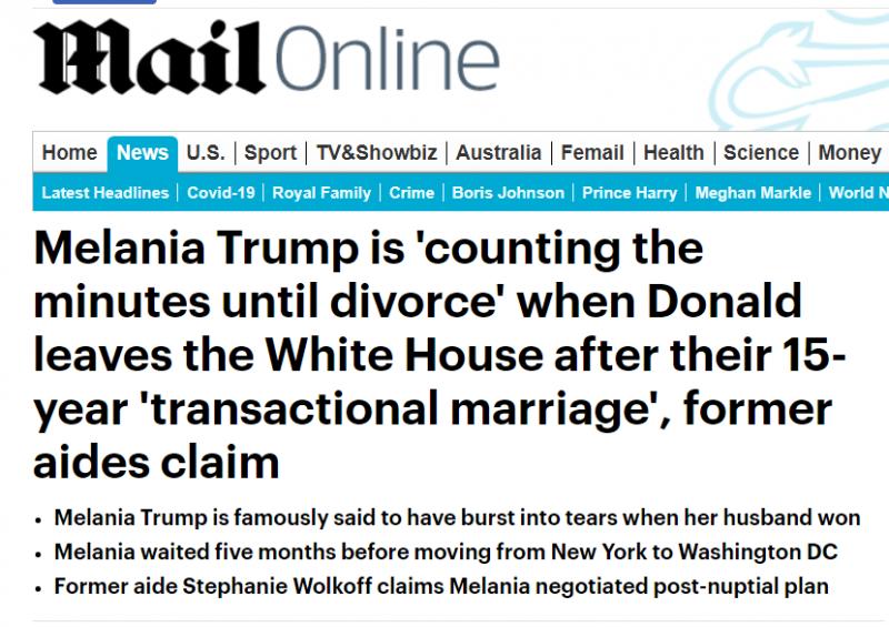 زواج دونالد ترامب مهدد بعد خسارته في الانتخابات (1)