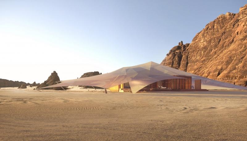 صور مدهشة.. تصميم منتجع عشار في صحراء العلا - المواطن
