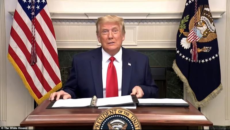 فيديو.. ترامب يفقد أعصابه على مراسل رويترز ويصفه بـ التافه
