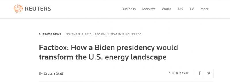 كيف ستحول رئاسة بايدن مشهد النفط والطاقة ؟