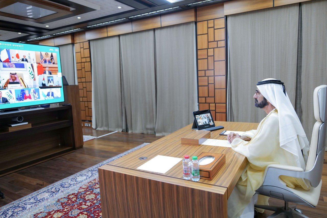 محمد بن راشد قمة العشرين