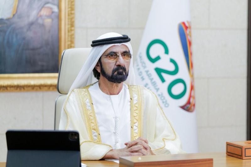 محمد بن راشد: قمة العشرين في السعودية المنصة الاقتصادية الأكبر عالميًا