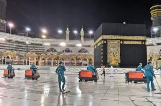 تعقيم المسجد الحرام بـ 4500 لتر يومياً من المطهرات والمعقمات - المواطن
