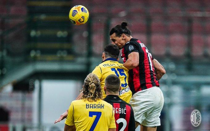 إنجاز مميز لـ إبراهيموفيتش بعد مباراة Milan vs Verona
