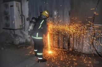 حريق مروع يلتهم مستودع شحن في جدة - المواطن