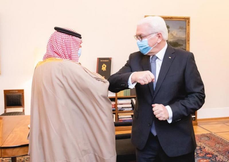 الجبير يبحث مع رئيس ألمانيا تعزيز العلاقات بين البلدين