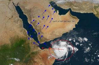 المسند: عاصفة استوائية نشطة تضرب الصومال تؤثر على أجواء السعودية - المواطن