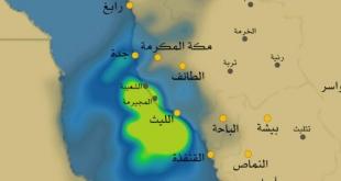 فيديو.. الزعاق يرسم مسار حالة سقيا على السعودية