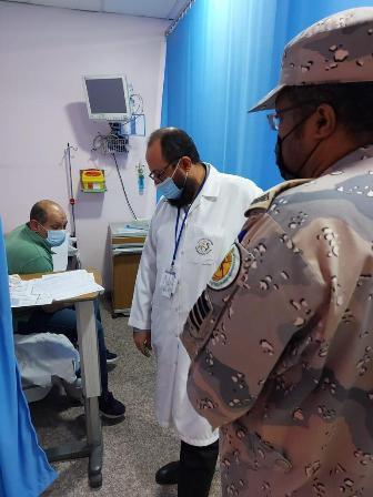 حرس الحدود يخلي بحارًا مصريًا تعرض لوعكة صحية في مياه الخليج العربي