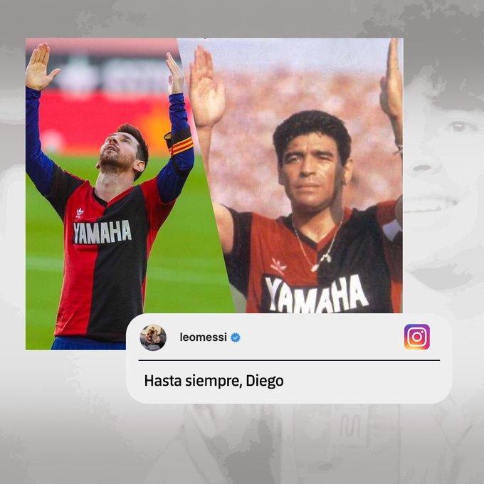 تكريم ميسي لـ مارادونا في لقاء برشلونة وأوساسونا