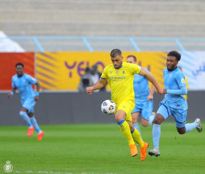 حمدالله في مباراة الباطن ضد النصر