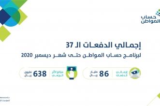 حساب المواطن يعلن تفاصيل الدفعة الـ37 والإجمالي 86 ملياراً - المواطن