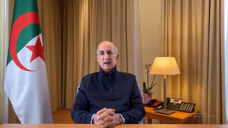 فيديو.. أول ظهور لرئيس الجزائر منذ شهرين