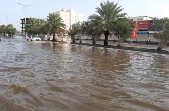 فيديو وصور.. أمطار الفجر تغرق المنطقة المركزية بكورنيش جازان - المواطن