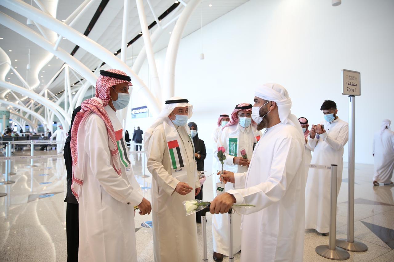 مطار الملك عبد العزيز يحتفل باليوم الوطني للإمارات 1