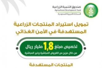 التنمية الزراعية: 882 مليون ريال إجمالي القروض الممنوحة بمبادرة استيراد المنتجات - المواطن