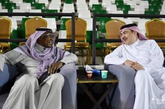 أحمد عيد مع رئيس الاهلي