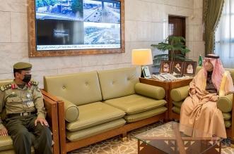 الأمير فيصل بن بندر يستقبل مدير عام جوازات منطقة الرياض