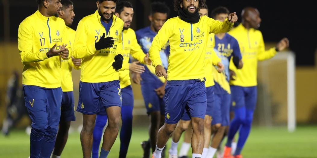 النصر يستعد لمواجهة الوحدة في دوري محمد بن سلمان