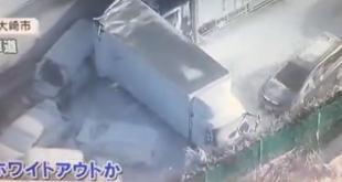 فيديو.. تصادم 134 سيارة في اليابان بسبب الثلوج