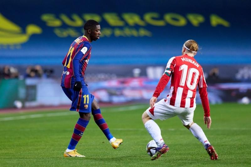 عثمان ديمبيلي لاعب برشلونة وبيلباو