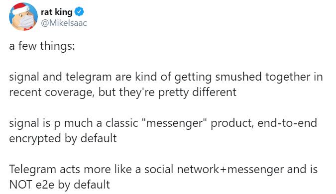 تحذير رسائل Telegram ليست مشفرة تلقائيًا (1)