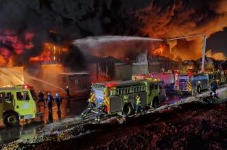 حريق في مستودعات على طريق الخرج القديم والمدني يتدخل - المواطن