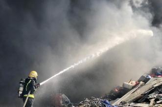 حريق في موقع لتجميع السكراب بصناعية أبها