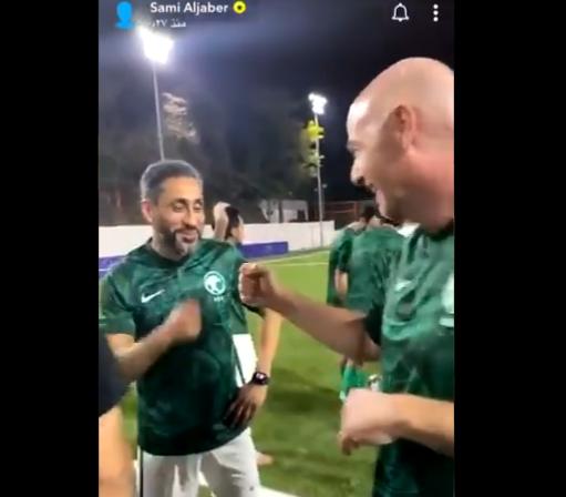 شاهد .. ماذا دار بين سامي الجابر ورئيس الفيفا ؟