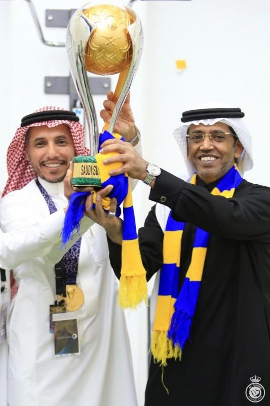 رئيس النصر مع عبدالعزيز بغلف