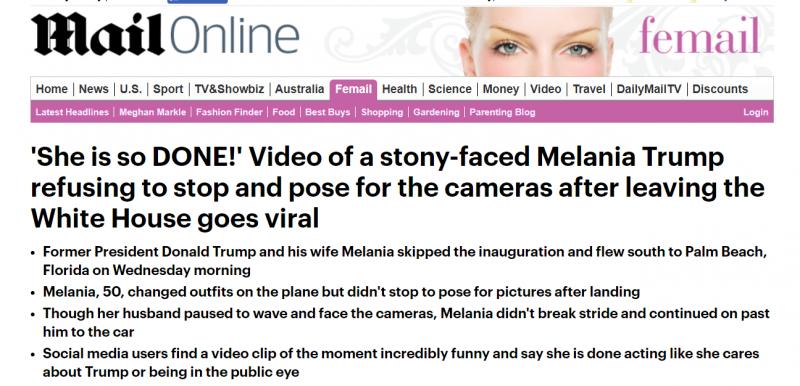 فيديو.. ميلانيا ترامب ذات الوجه الصخري تحرج زوجها أمام الكاميرات (3)