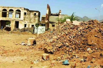 ميليشيا الحوثي تدمر قصر السخنة التاريخي في الحديدة