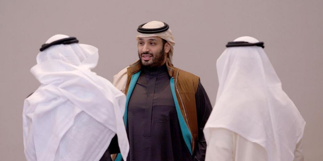 صور محمد بن سلمان خلال اعتماد إستراتيجية صندوق الاستثمارات العامة