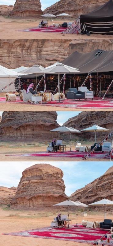 من الصحراء نقود العالم.. صورة مكتب محمد بن سلمان تثير إعجاب رواد تويتر - المواطن