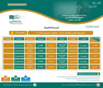 وزارة التعليم تنشر جداول الحصص اليومية من الأسبوع الثاني - المواطن