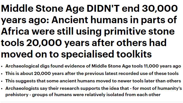 فترة العصر الحجري ربما استمرت 20 ألف سنة في بعض أجزاء إفريقيا - المواطن